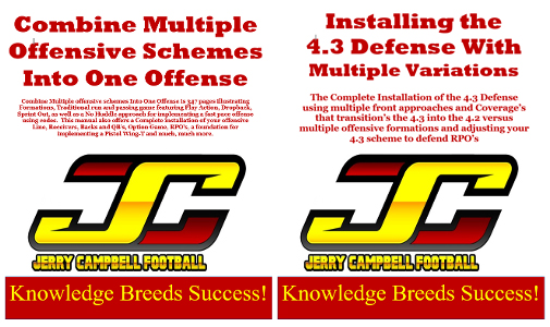 Combine Multiple Offensive Schemes Into One Offense & Installing the 4.3 Defense With Multiple Variations
